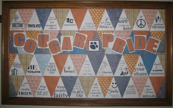 Bulletin Board: School pride and character