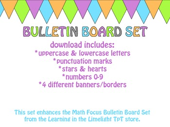Colorful Bulletin Board JUMBO Set