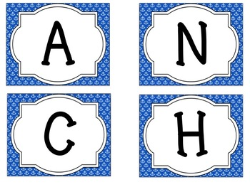 Bulletin Board Set: Anchors Aweigh Back To School Set EDITABLE