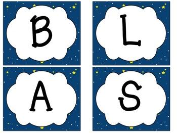 Bulletin Board Set: Blast Off Back To School Board