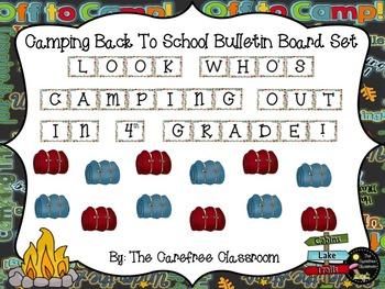 Bulletin Board Set: Camper Themed Back To School Set