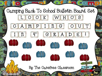 Bulletin Board Set: Camper Themed Back To School Set EDITABLE