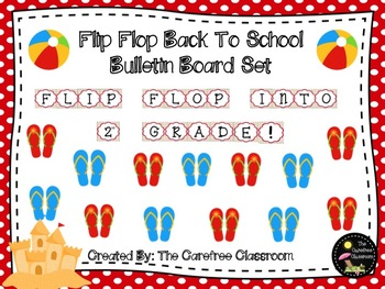 4d04a93fb Bulletin Board Set  Flip Flop Back To School Set EDITABLE
