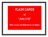 """""""John 3:16"""" Fill in the Blank Flash Cards (8.5 x 11) No Prep!"""