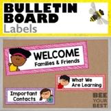 Bulletin Board Set LABELS with Corner Peeps