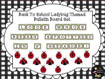 Bulletin Board Set: Ladybug Back To School Bulletin Board Set