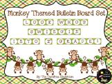 Bulletin Board Set: Monkey Themed Back To School Board