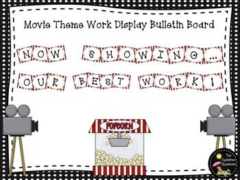 Bulletin Board Set: Movie Theme Work Display Board
