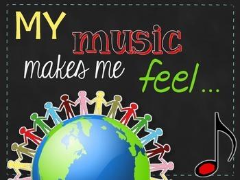 Bulletin Board Set {My Music Makes Me Feel...}