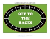 Bulletin Board Set - Race Cars - graphics, ideas, decorations