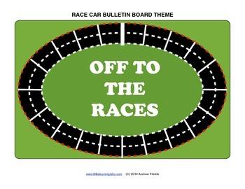 Bulletin Board Set - Race Cars - graphics, ideas, decorations