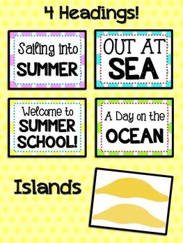 Bulletin Board Set: Sailing / Nautical