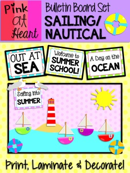 Bulletin Board Set: Sailing / Nautical