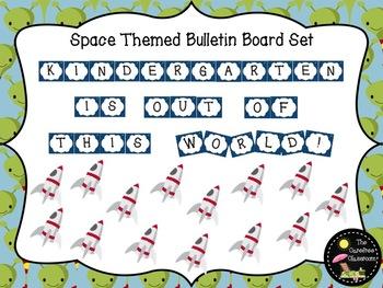 Bulletin Board Set: Space Themed Back To School Set EDITABLE