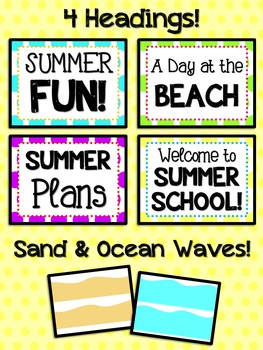 Bulletin Board Set: Summer and Beach Time