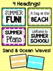 Bulletin Board Set: Summer and Beach Time