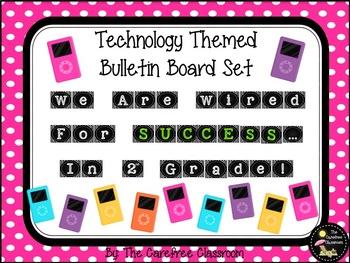 Bulletin Board Set: Technology Themed Back To School Set EDITABLE