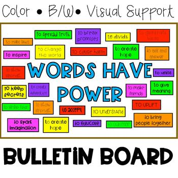 Classroom Bulletin Board Set: Words Have Power