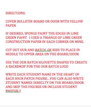 Bulletin Board - Sour Patch Theme