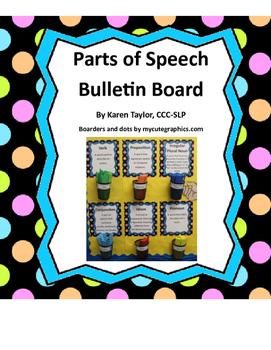 Bulletin Board, Speech-Language activity, Idioms, Irreg. Verbs