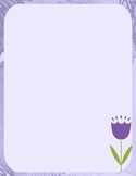 Bulletin Board Stationery Writing Paper Spring Graphic Blooms