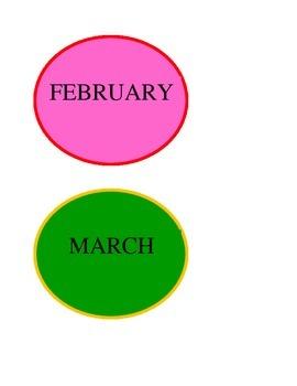 Bulletin Board -  Students Birthday Month Dots