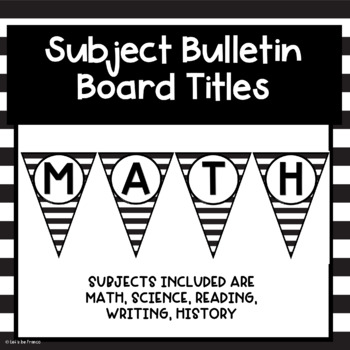 Bulletin Board Subject Banners