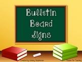 Bulletin Board Subject Titles (5 Subjects)