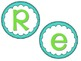 Bulletin Board Subject/Area Titles- Turquoise and Green