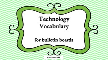 Technology Vocabulary Word Wall