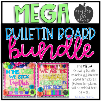 bulletin board template mega bundle by michelle griffo from apples