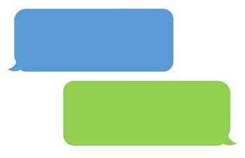 Bulletin Board Text Messaging bubbles