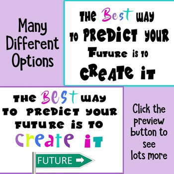 Growth Mindset Bulletin Board - Interactive - Predict Your Future