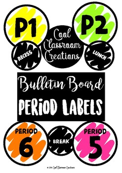 *FREE* Bulletin Board / Timetable Period Labels