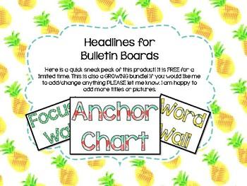 Bulletin Board Titles/Headlines