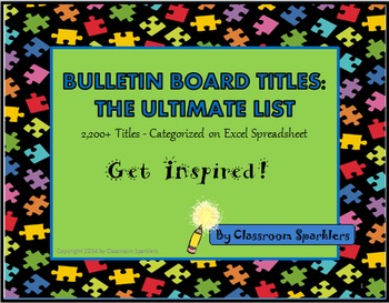 Bulletin Board Titles: The Ultimate List