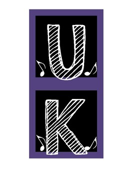 "FREE! Bulletin Board ""Ukulele Chords"" Letters"