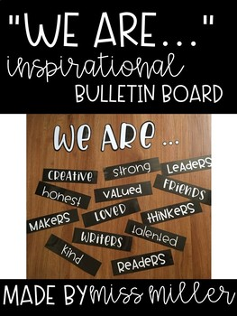 Bulletin Board - We Are ... - Black & White AND Color