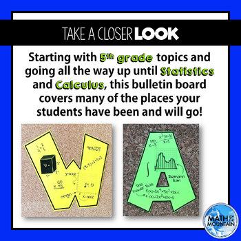 Bulletin Board | Welcome to Math Class