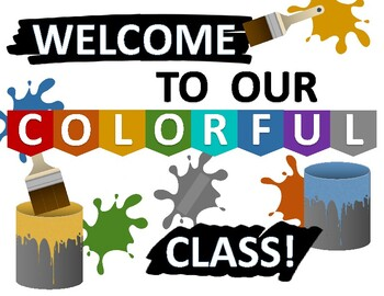 "Bulletin Board: ""Welcome to our Colorful Class!"""