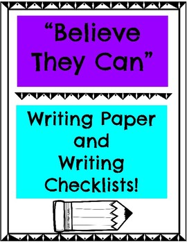 Bulletin Board Writing Paper and Writing Checklists for Multiple Level Learners!
