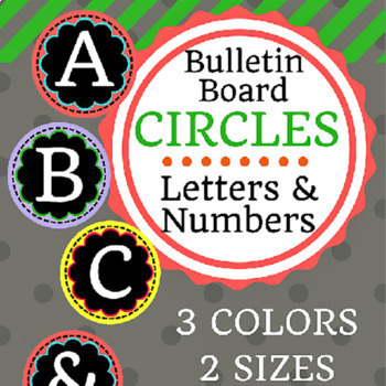 Bulletin Board and Banner Circle Letters & Numbers