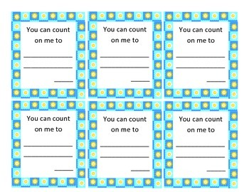 Bulletin Board and Classroom Activity - Count on Me - Week of Respect