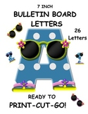 Bulletin Board and Word Wall Letters Blue Polka Dots A-Z S