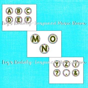Bulletin Board and Word Wall Letters: Neon