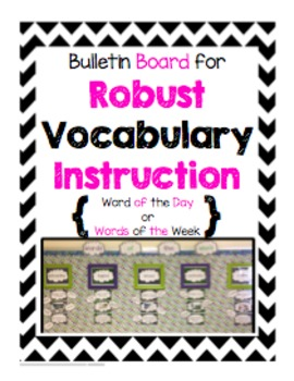 Bulletin Board for Robust Vocabulary Instruction - Black & Pink