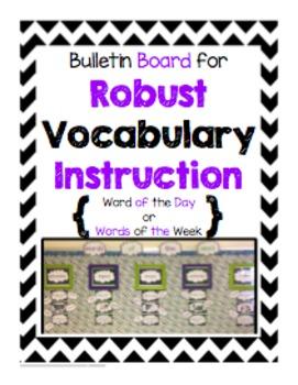 Bulletin Board for Robust Vocabulary Instruction - Black & Purple