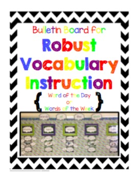 Bulletin Board for Robust Vocabulary Instruction - Rainbow