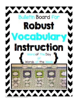 Bulletin Board for Robust Vocabulary Instruction - Turquoi