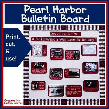 Bulletin Board for World War 2 - Pearl Harbor